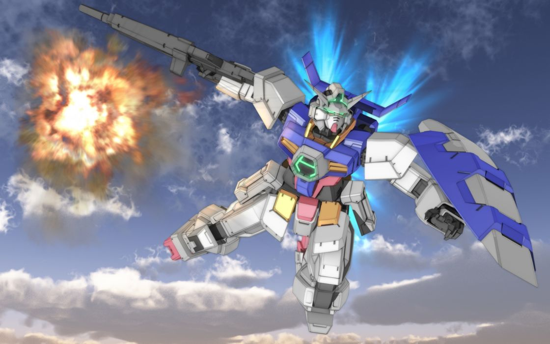 age-1 gundam clouds gun gundam age mecha mobile suit gundam sky tagme weapon zefai wallpaper