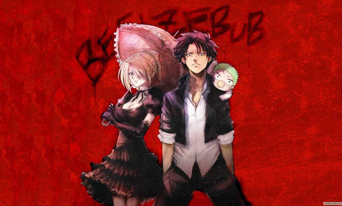 baby be'el beelzebub (manga) hildegarda oga tatsumi red umbrella wallpaper