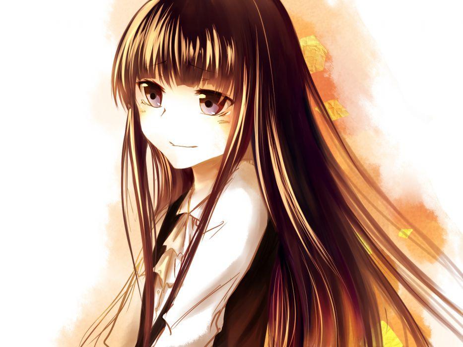 brown hair long hair reanisu lunashi tagme wallpaper