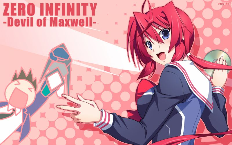 izumi mahiru light mariya jun red hair zero infinity -devil of maxwell- wallpaper