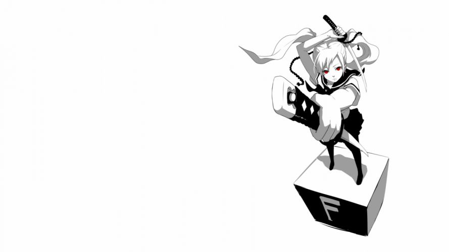 Anime White Sword Katana wallpaper