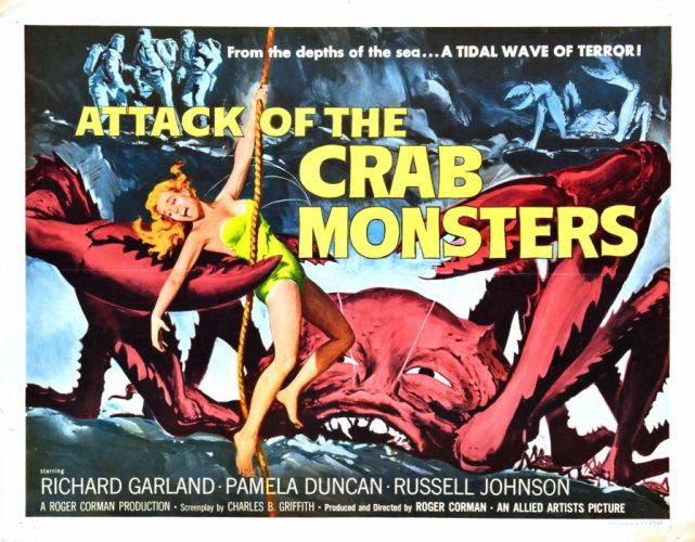 Attack of The Crab Monsters Movie Poster wallpaper