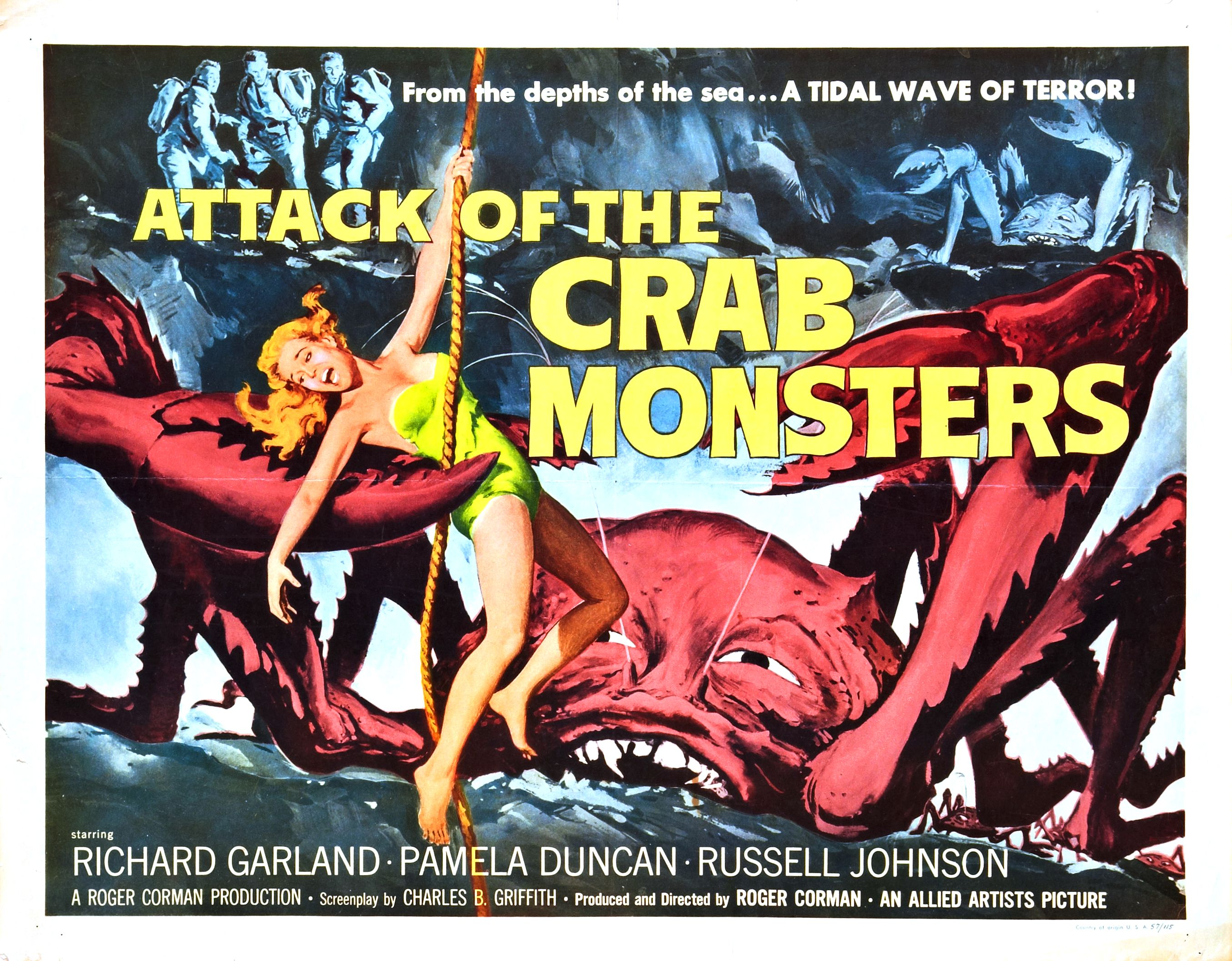 Attack of The Crab Monsters Movie Poster wallpaper ...