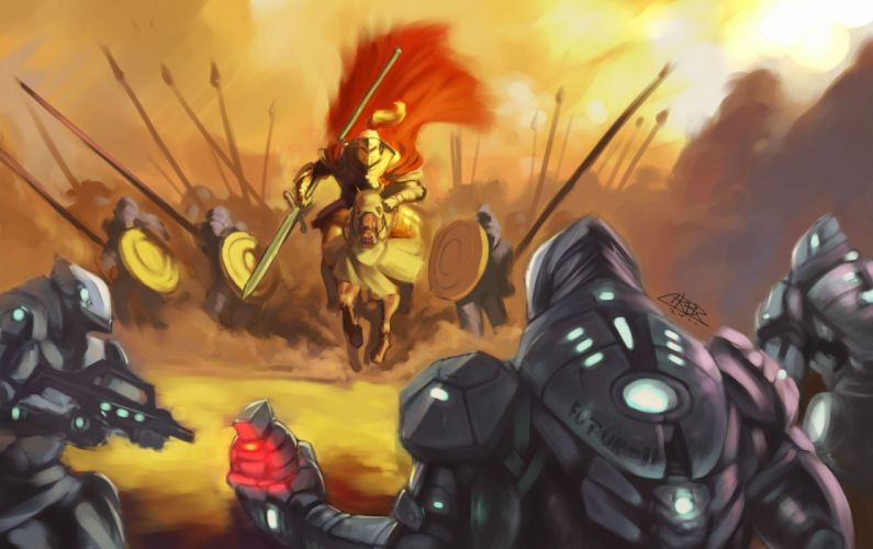 Battles Warriors Armor Fantasy wallpaper