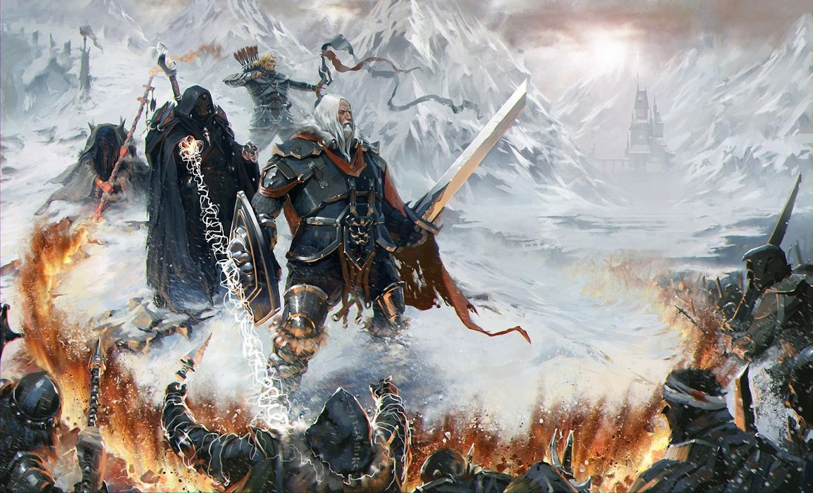 Battles Warriors Magic Man Armor Fantasy wallpaper