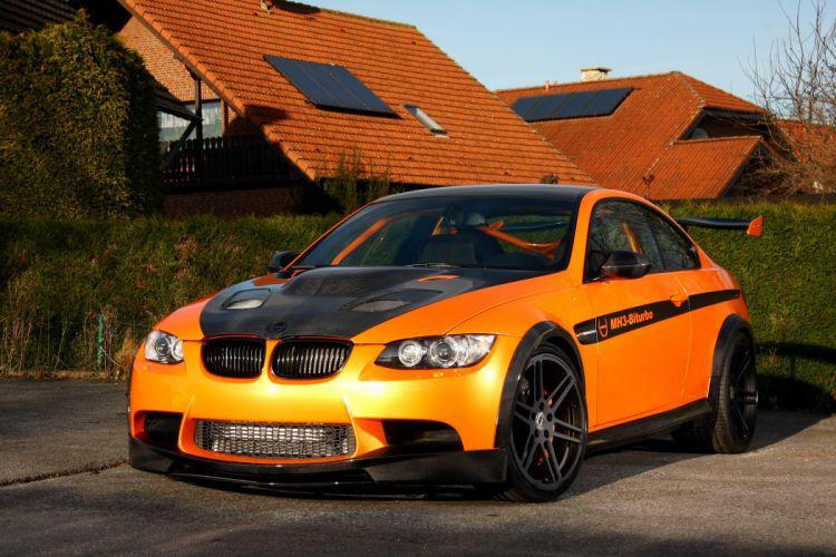 BMW 2011 Manhart MH3 V8 RS Clubsport M3 E92 Orange Front Cars wallpaper