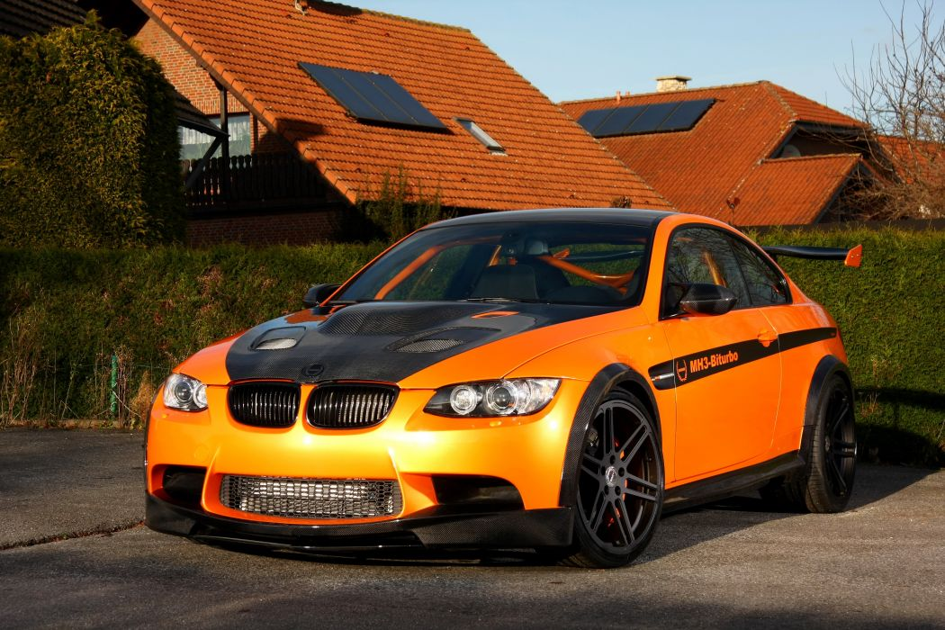 BMW 2011 Manhart MH3 V8 RS Clubsport M3 E92 Orange Front Cars wallpaper