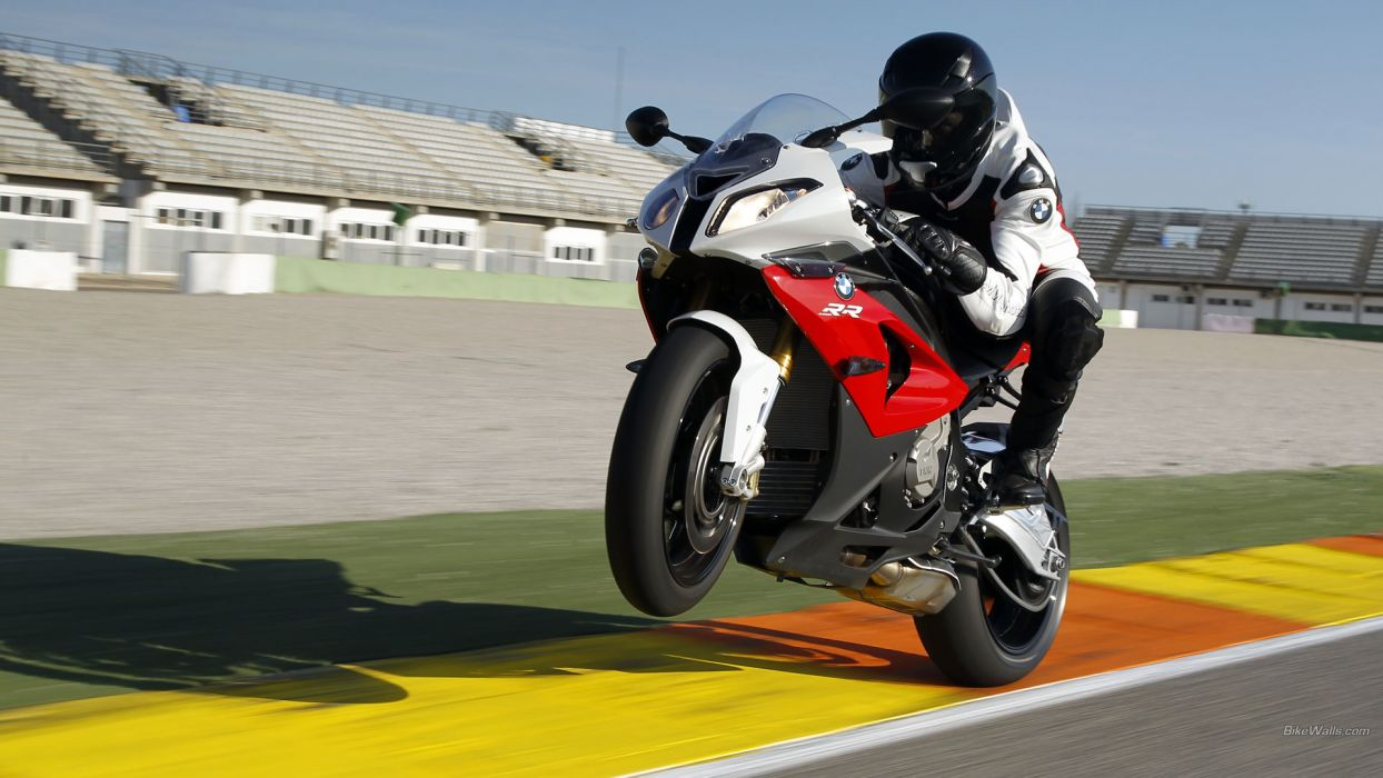 BMW Sportbike S1000RR Wheelie Motion Blur        f wallpaper