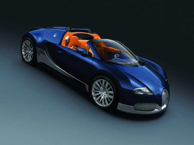 BUGATTI 2011 Veyron Grand Sport Middle East Blue Luxury Cars wallpaper