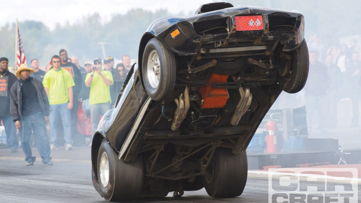 Chevrolet Corvette Stingray Drag Drag Race Wheelie wallpaper