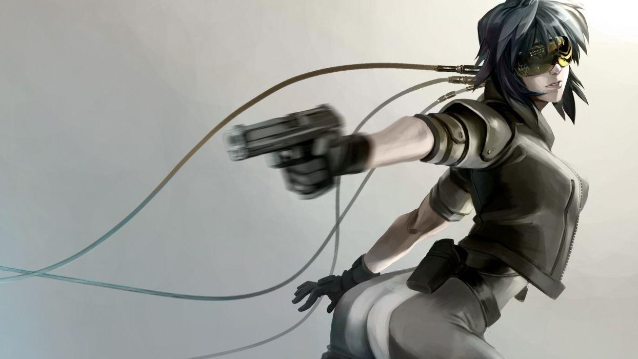 Cyberpunk Handgun Drawing wallpaper