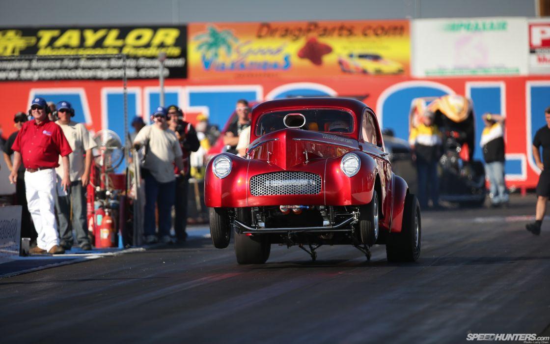 Drag Race Hot Rod Launch Wheelie Car Strip Wallpaper