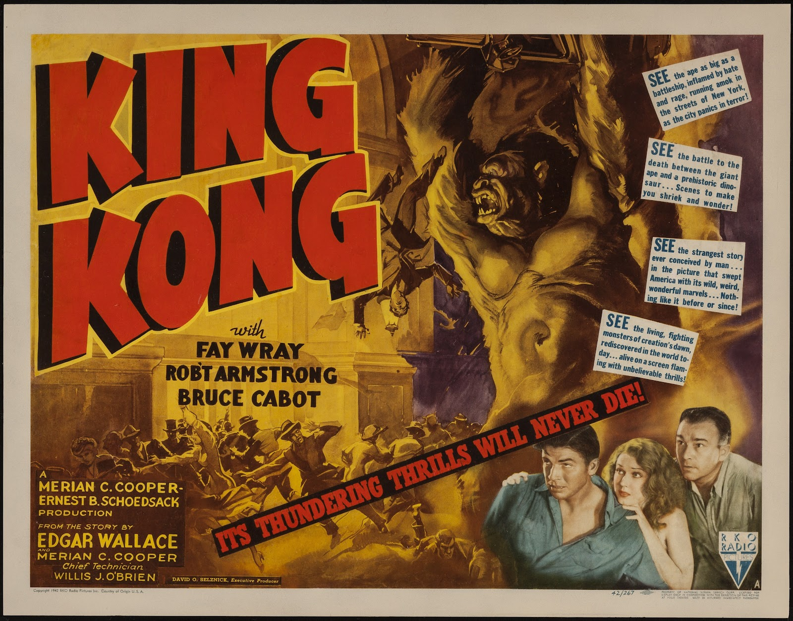 Original 1933 king kong movie poster value
