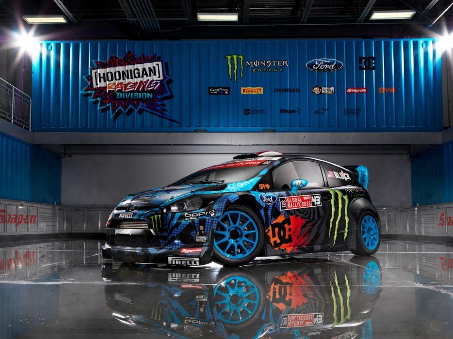 ford  fiesta  rs  WRC  2013  Ken Block  Monster energi wallpaper