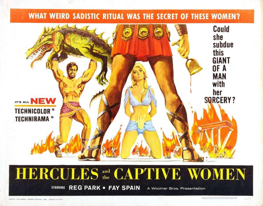 hercules and captive women poster wallpaper