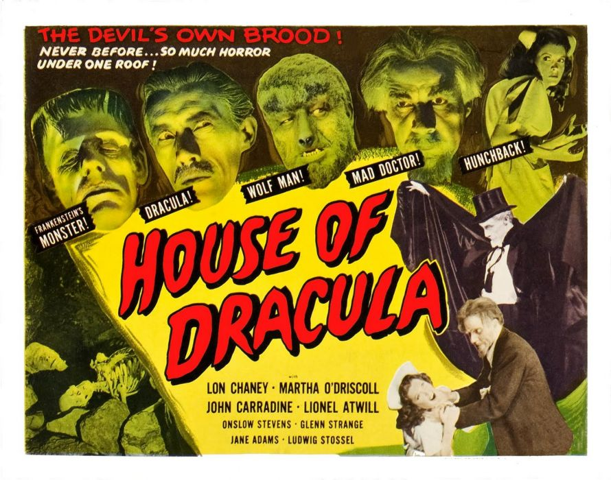 House Of Dracula poster wallpaper
