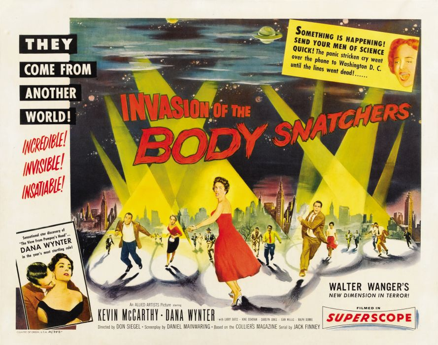invasion of the bodysnatchers poster wallpaper