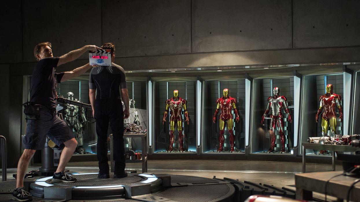 Iron Man Robert Downey Jr Suits Set wallpaper
