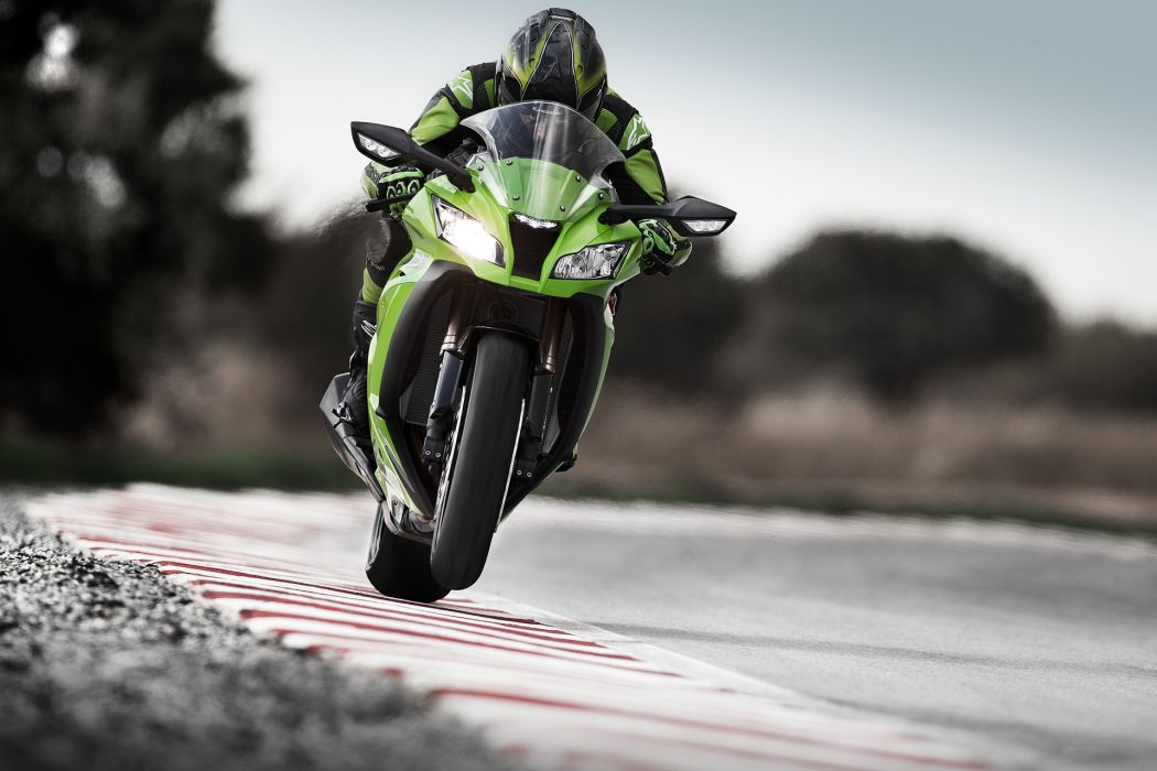 Kawasaki Sportbike Wheelie wallpaper