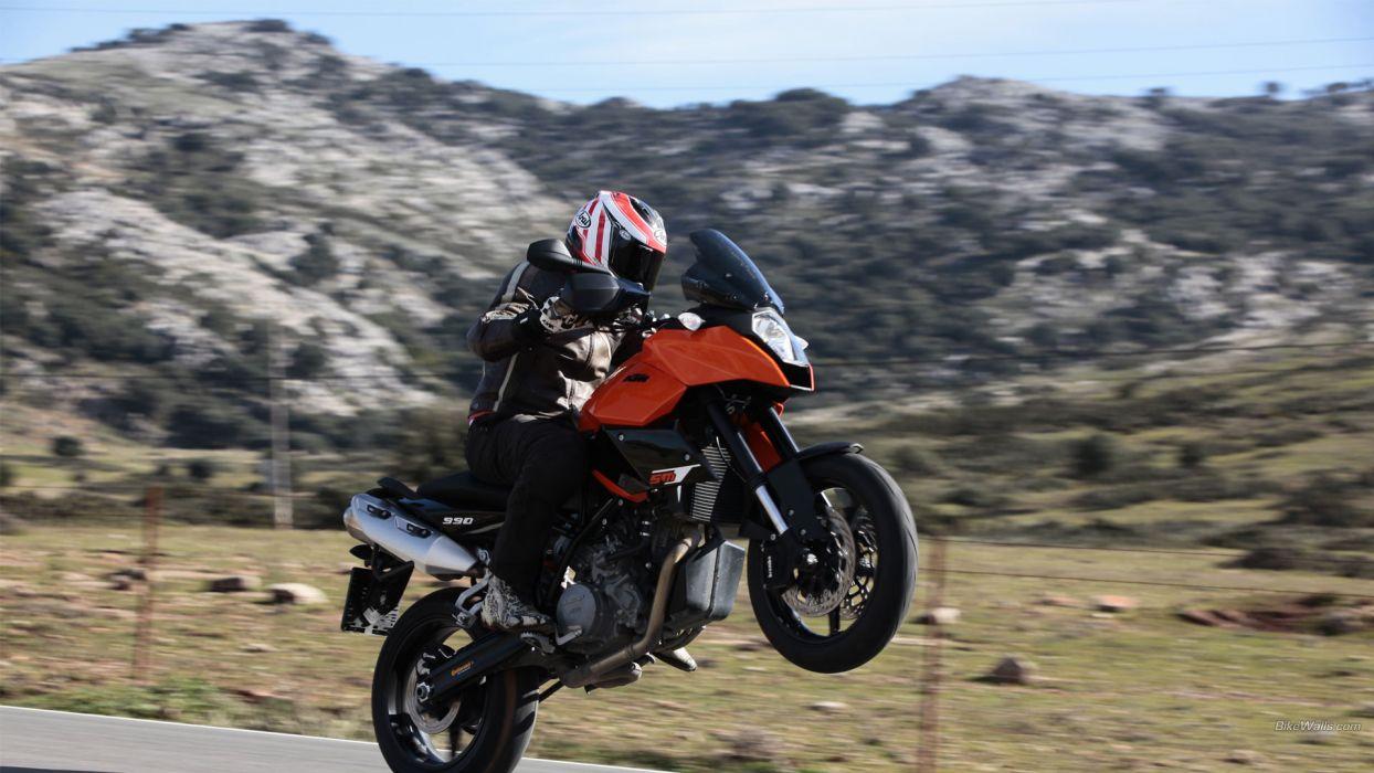 KTM Sportbike Wheelie wallpaper