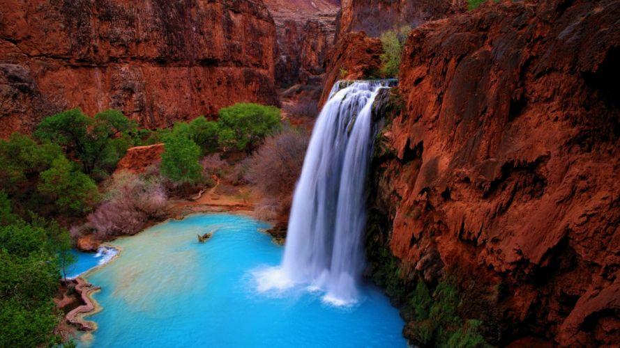 landscapes waterfalls Nature Environment wallpaper