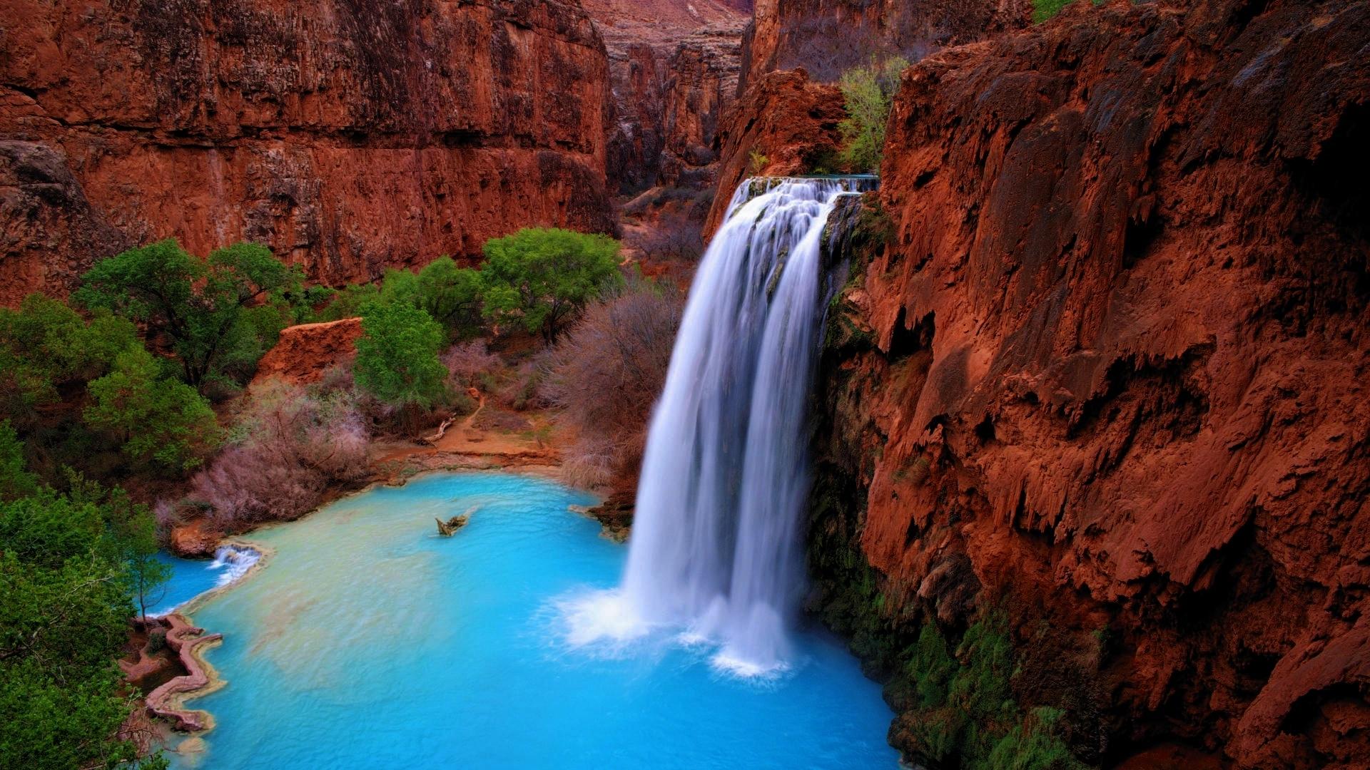 Landscapes waterfalls nature environment wallpaper for Waterfall environment