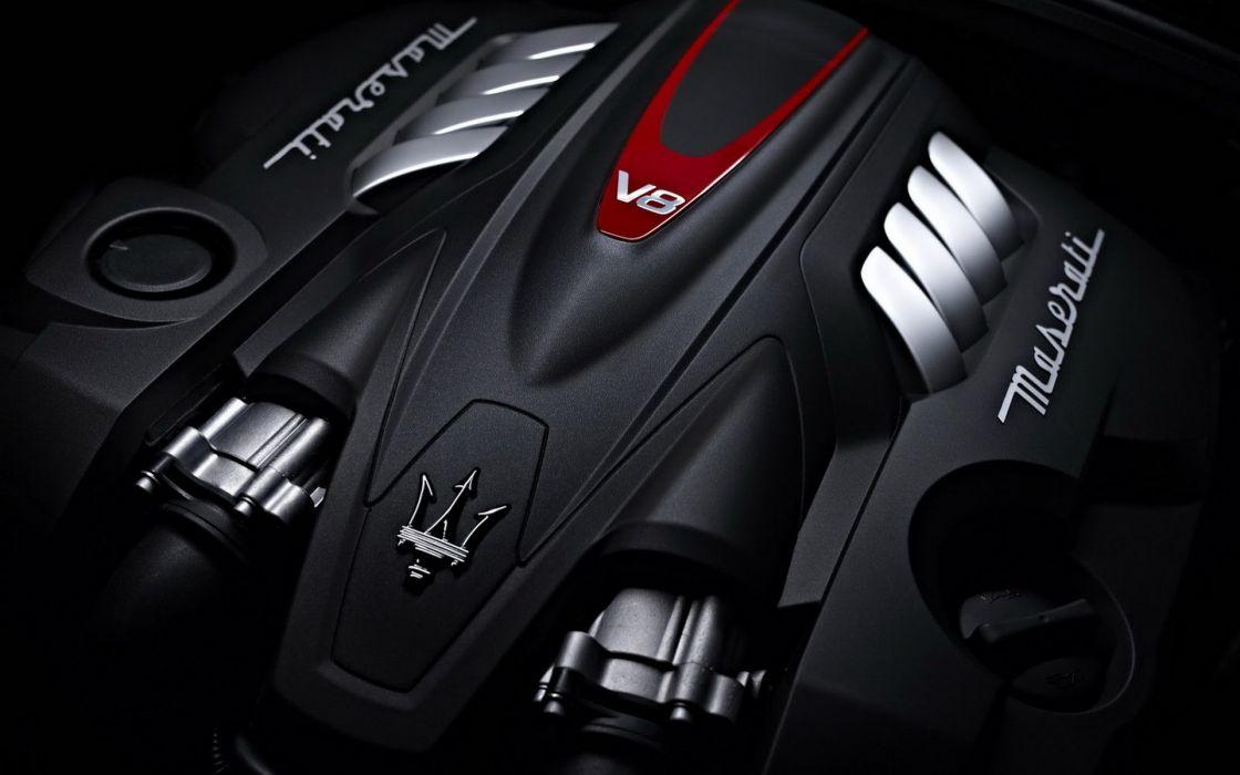 Logo Maserati Quattroporte Engine Wallpaper