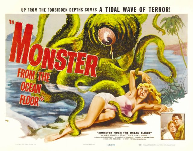 Monster From The Ocean Floor Movie Poster wallpaper
