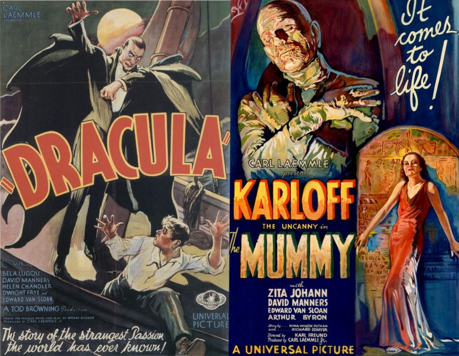 Movie Poster Dracula Mummy wallpaper
