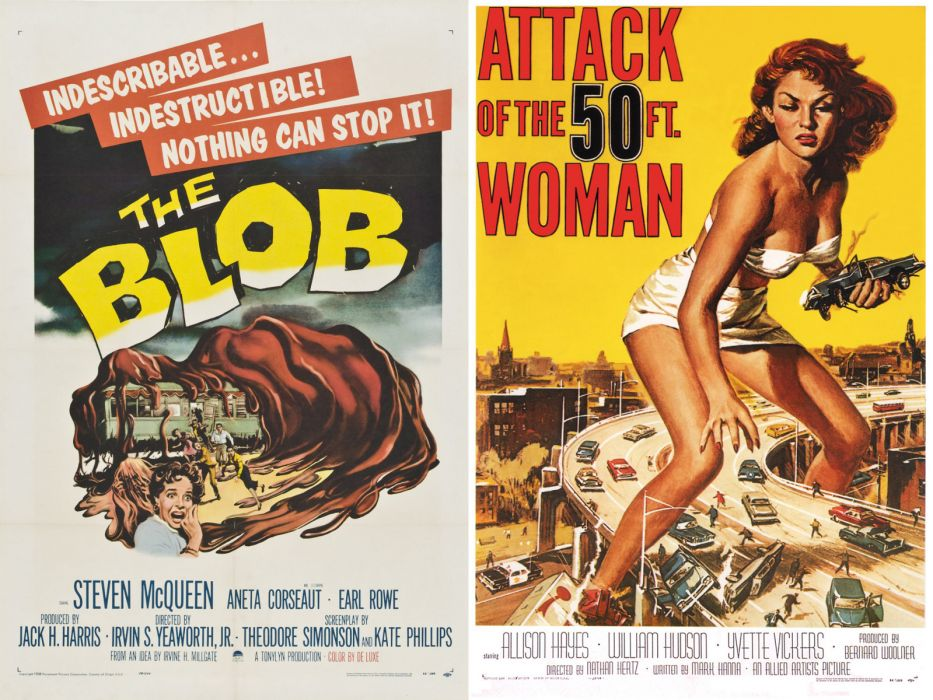 Movie Poster The Blob Attack of the 50 Foot Woman wallpaper