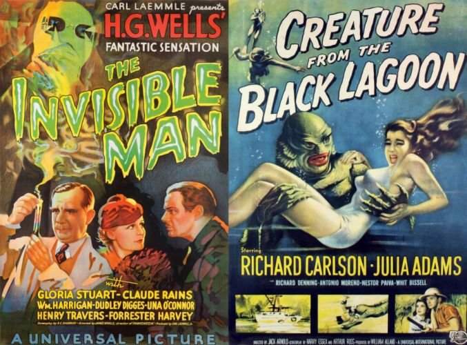 Movie Poster The Invisible Man Creature from the Black Lagoon wallpaper