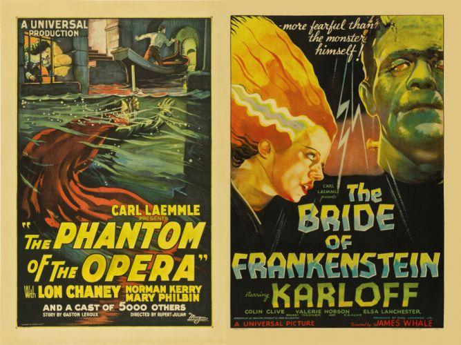 Movie Poster The Phantom of the Opera Frankenstein wallpaper