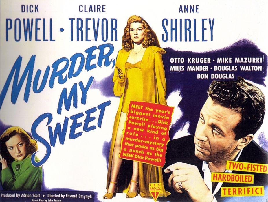 Murder My Sweet poster wallpaper