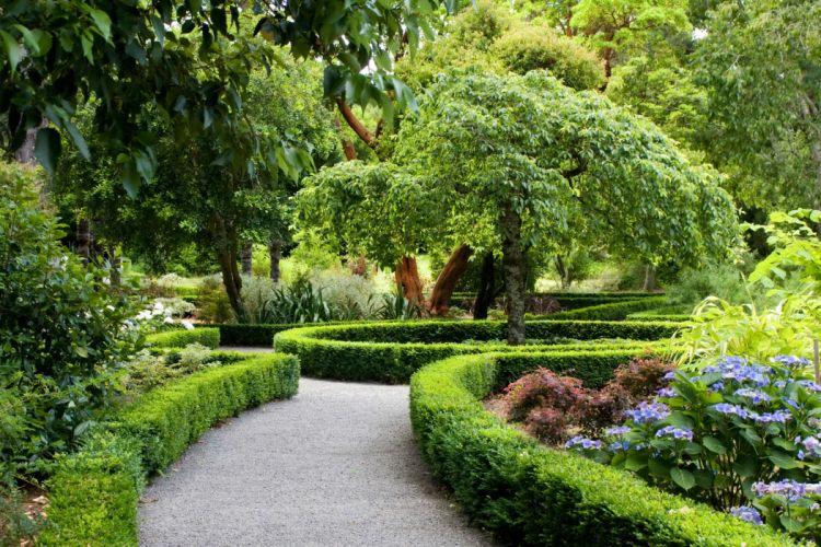 Parks New Zealand Landscape Christchurch Shrubs Design Nature wallpaper