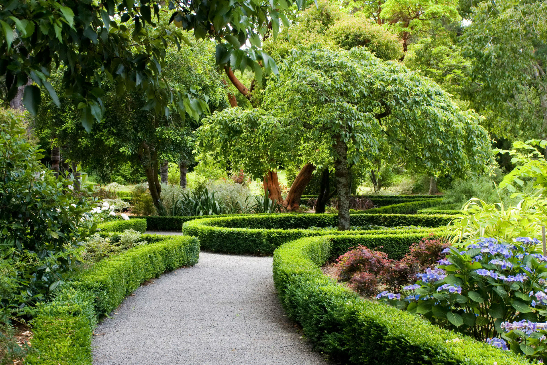 Parks New Zealand Landscape Christchurch Shrubs Design Nature Wallpaper 192