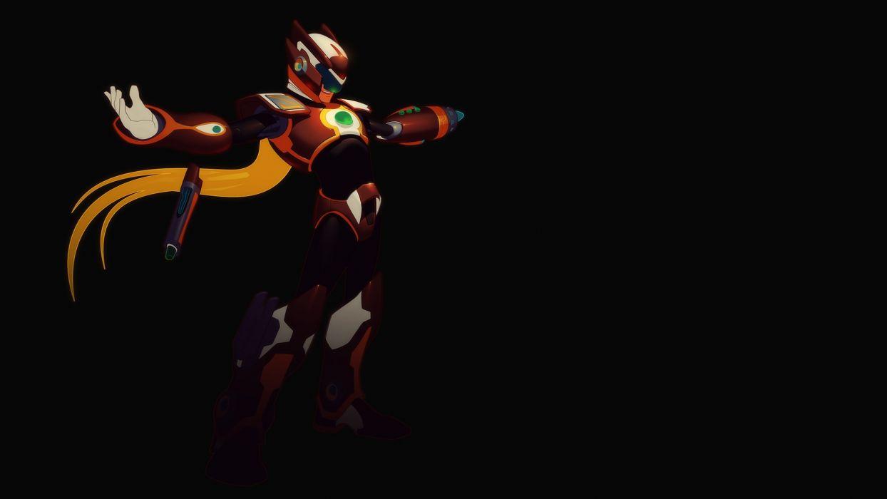 Proto Man Mega Man Black wallpaper