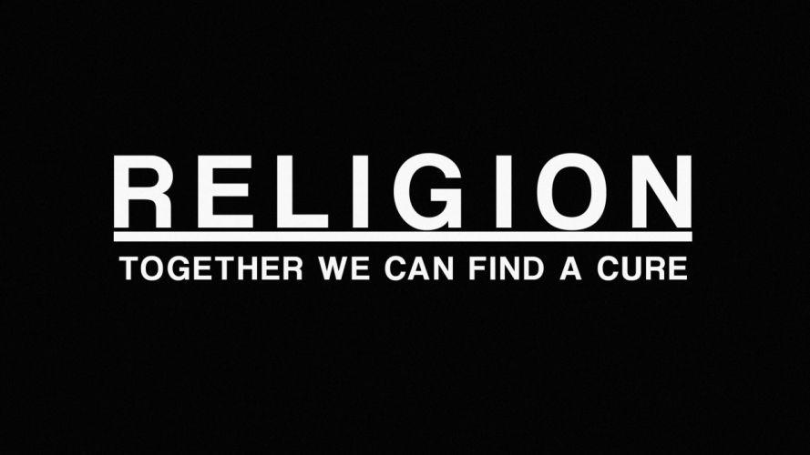 Religion Cure Black wallpaper