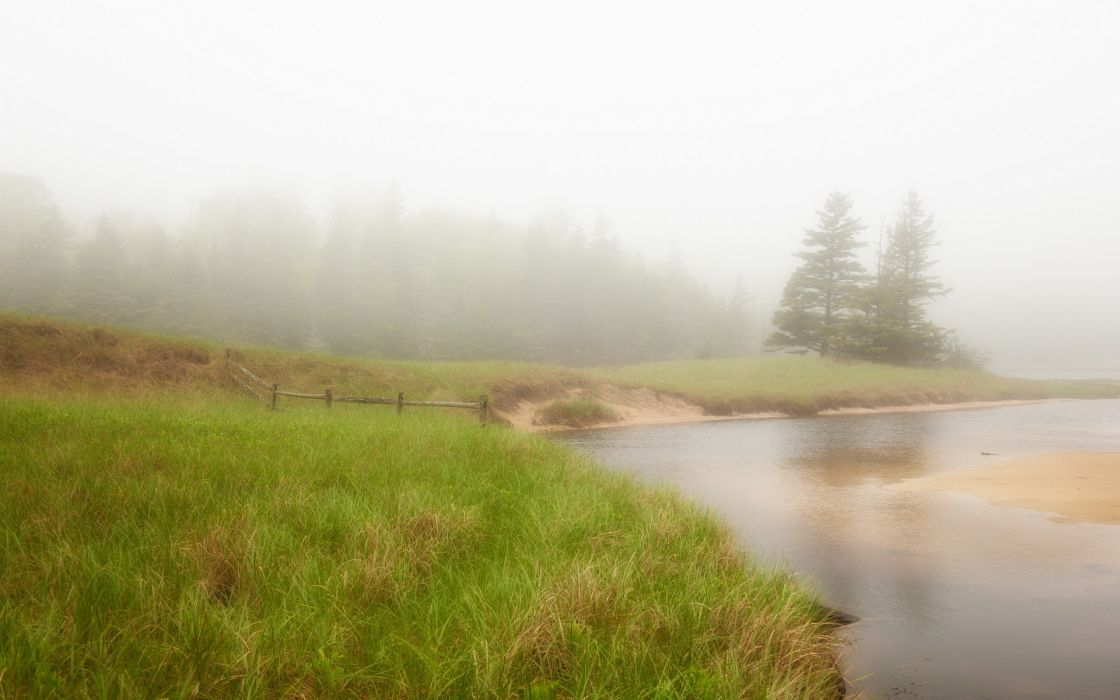 river  mist  nature wallpaper