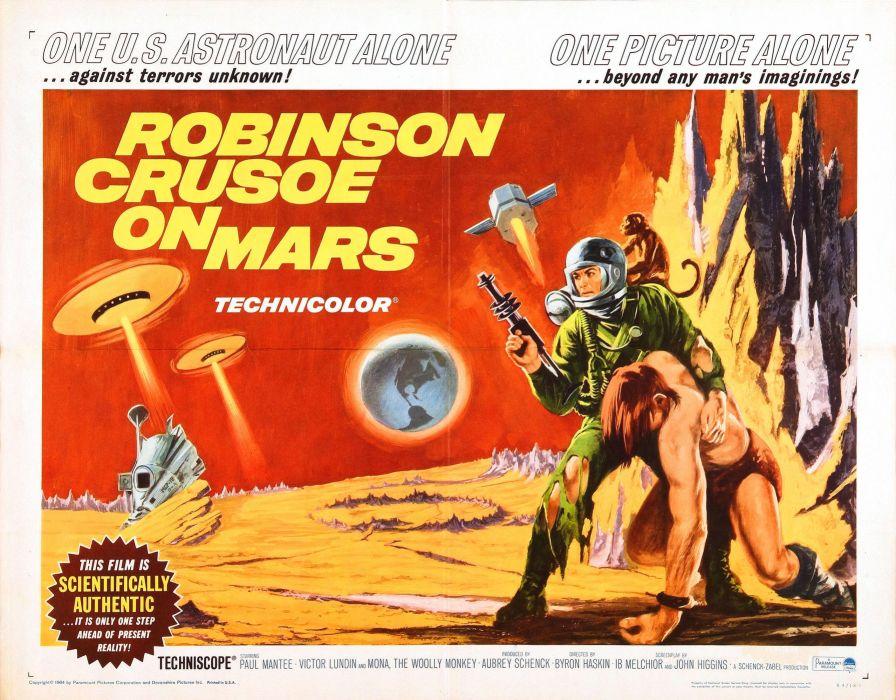 robinson crusoe on mars poster wallpaper