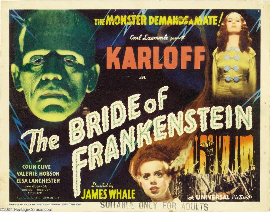 The Bride of Frankenstein Movie Poster Frankenstein wallpaper
