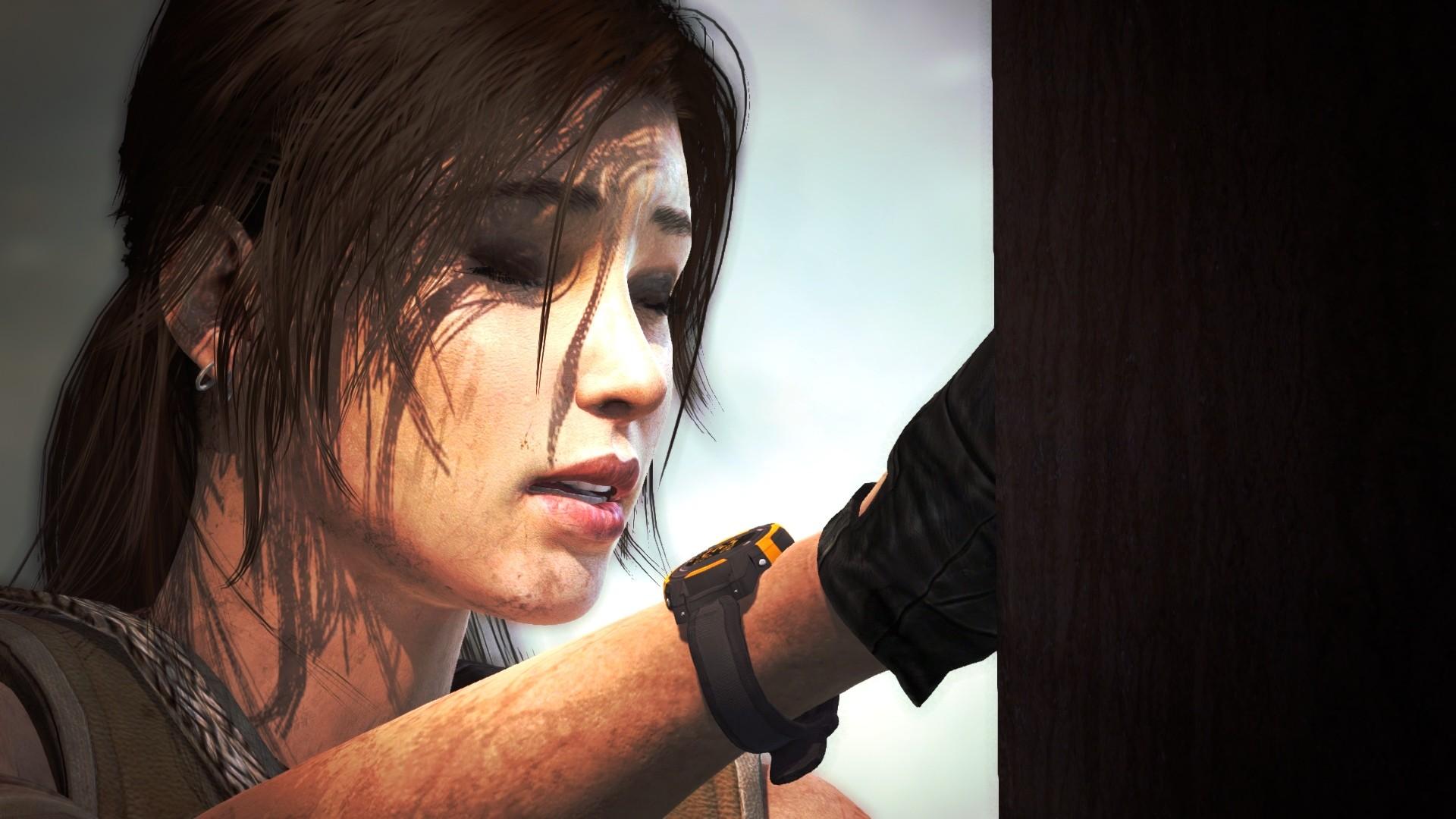 Tomb Raider Lara Croft Brunette Face Wallpaper 1920x1080 79027