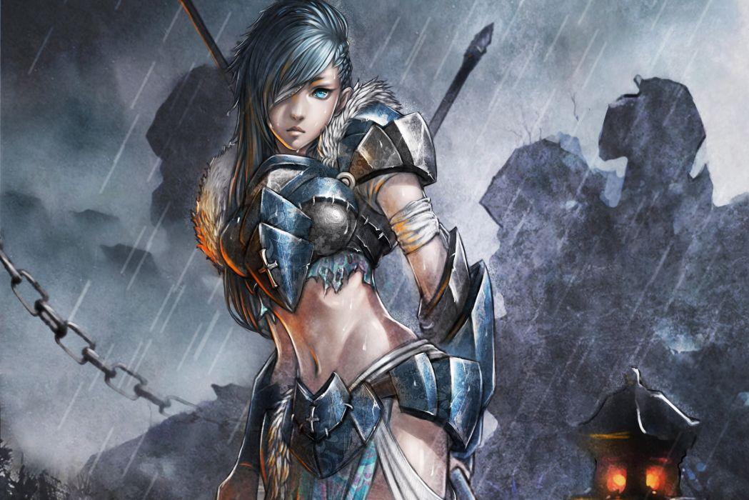 Warrior Rain Drawing wallpaper