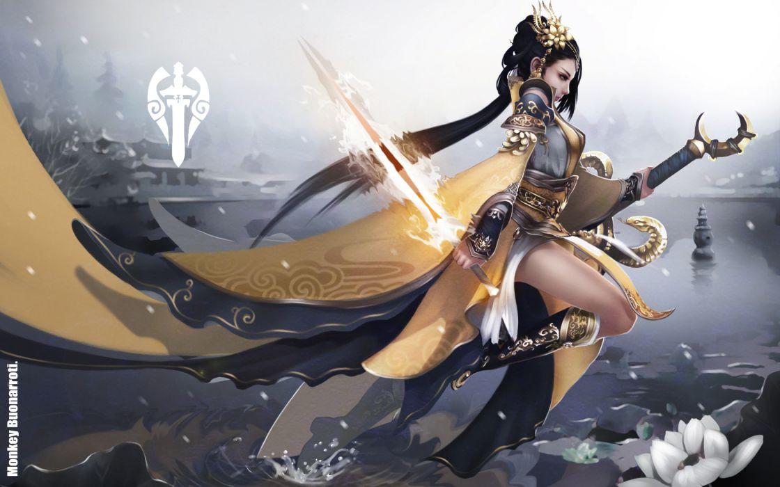 Warriors Swords Games Girls wallpaper