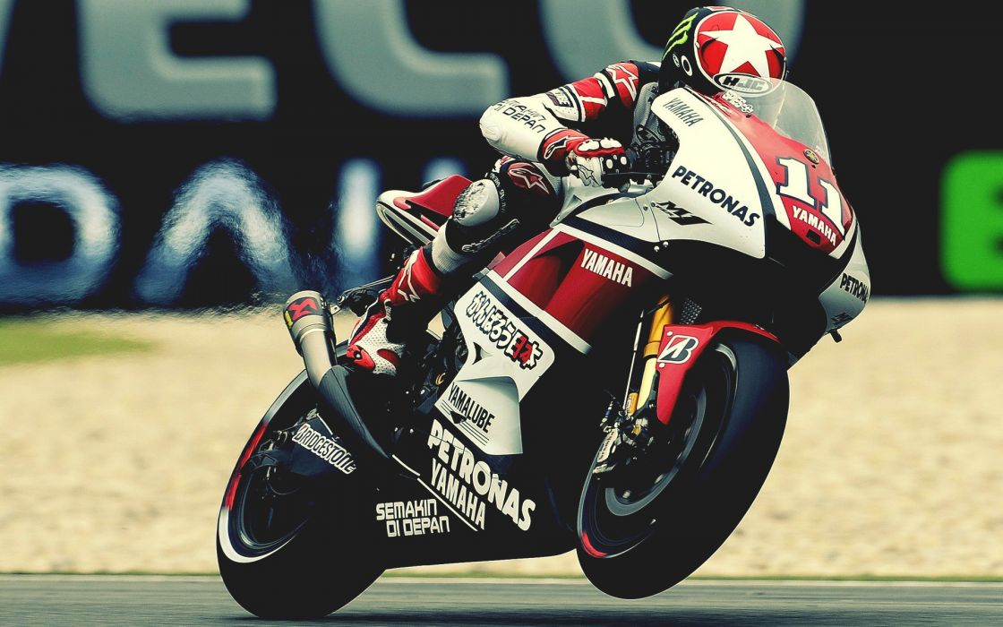 Yamaha R1 Sportbike Warm Wheelie wallpaper