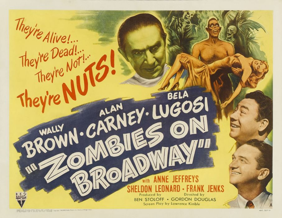 Zombies on Broadway Movie Poster wallpaper