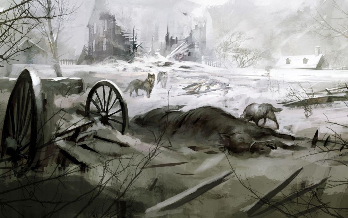 wolves assassins creed 3 wolf wallpaper