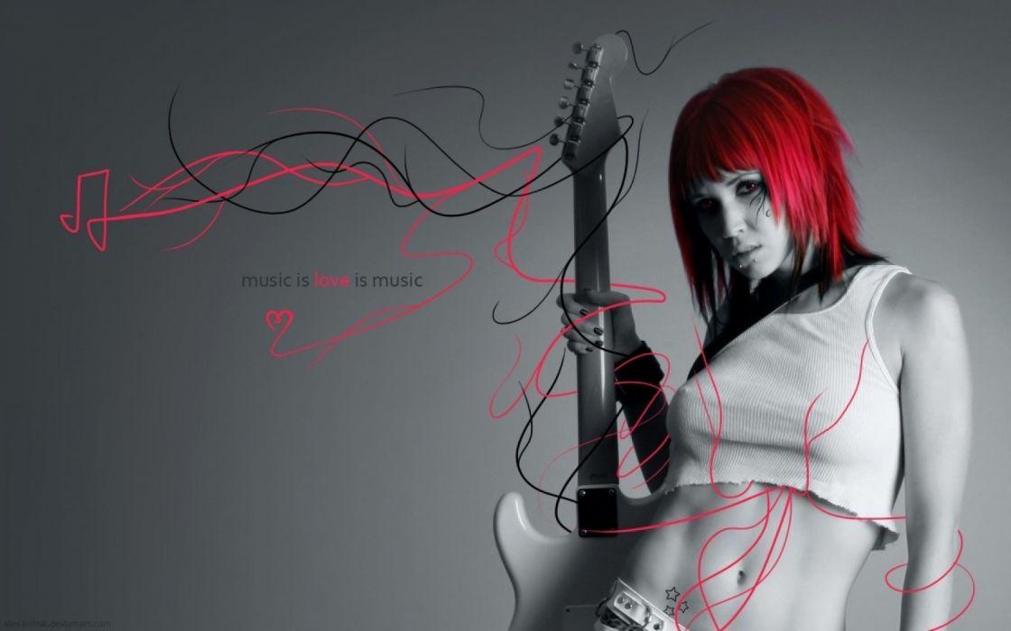 women music guitar wallpaper
