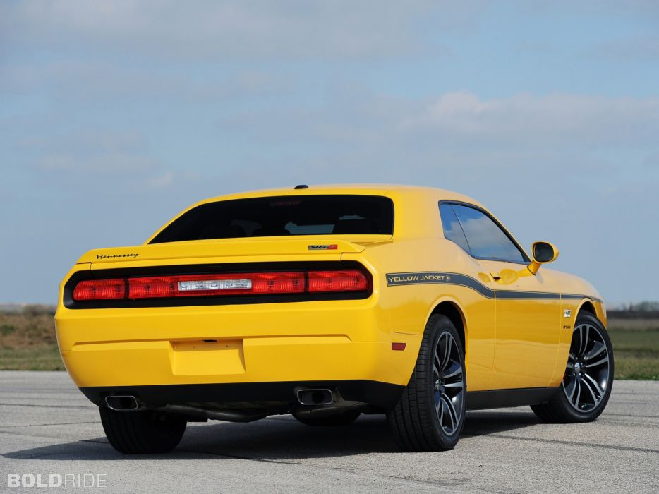 2013 Hennessey Dodge Challenger SRT8 392 Yellow Jacket muscle cars car    w wallpaper
