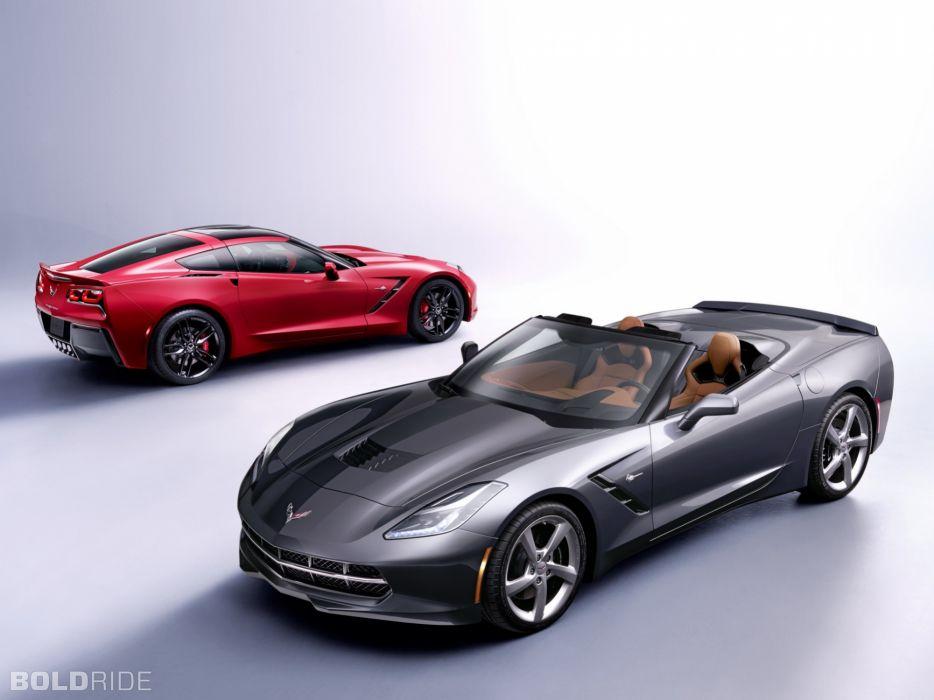 2014 Chevrolet Corvette Stingray Convertible supercars supercar muscle     d wallpaper