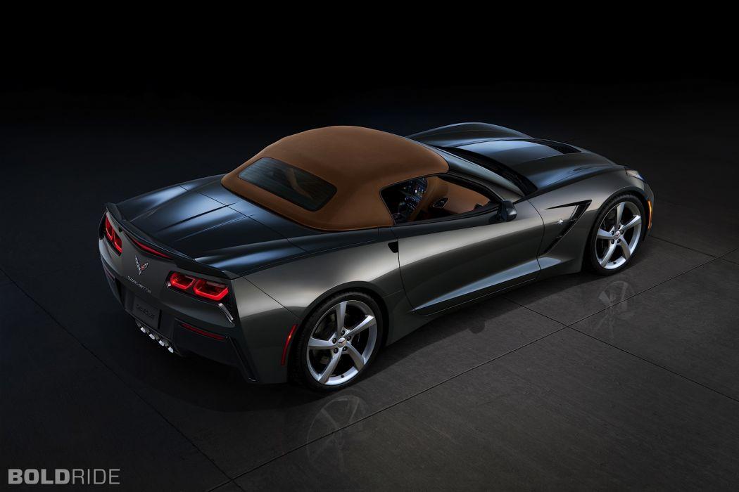 2014 Chevrolet Corvette Stingray Convertible supercars supercar muscle     w wallpaper